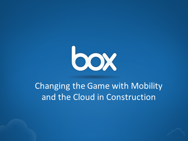Changing the Game with the Cloud in Architecture, Engineering, and Construction