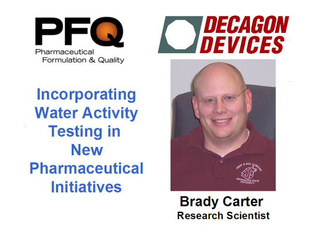 Incorporating Water Activity Testing in New Pharma Initiatives