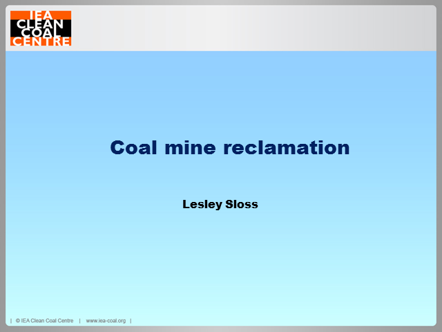 Coal mine site reclamation