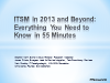 ITSM in 2013 and Beyond: Everything You Need to Know in 55 Minutes