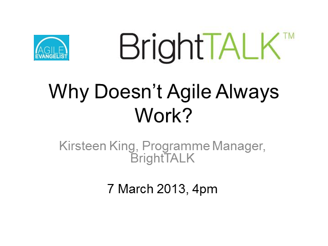 Why doesn't agile always work?