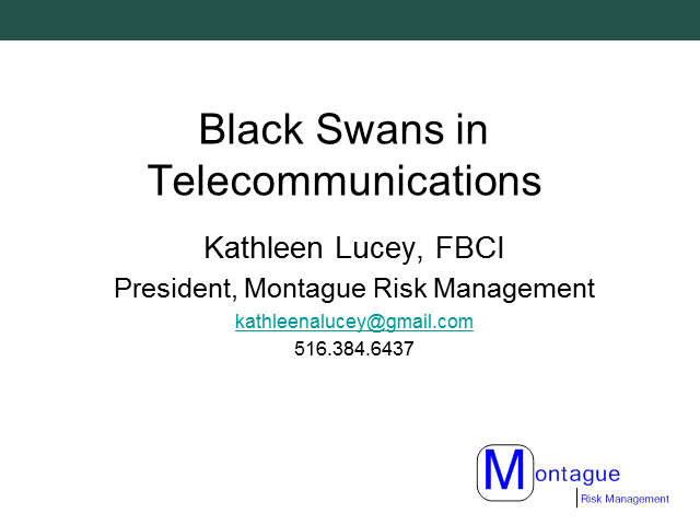 Identifying and Mitigating the Black Swans in Telecommunications