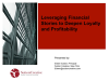 Leveraging financial story to deepen loyalty and profitability