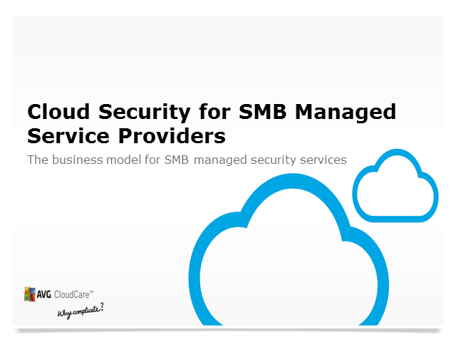 Cloud Security for SMB Managed Service Providers