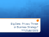 Big Data: Privacy Threat or Business Strategy?