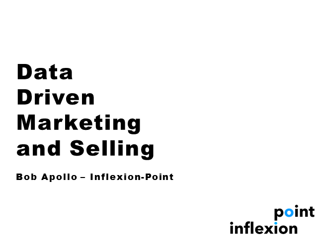 Data Driven Marketing and Selling!