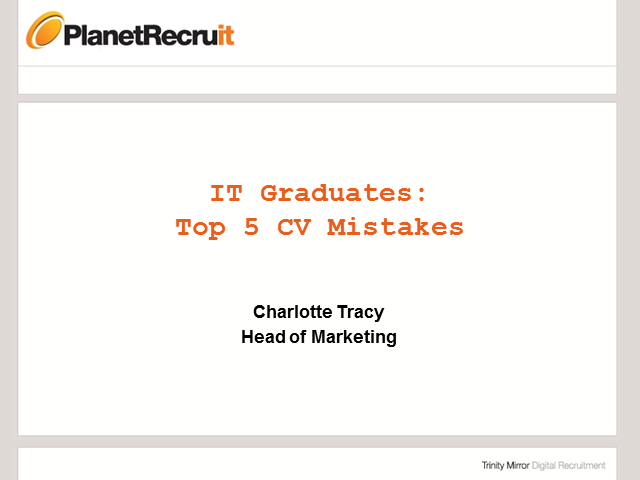 IT Graduates: Top 5 CV mistakes to avoid
