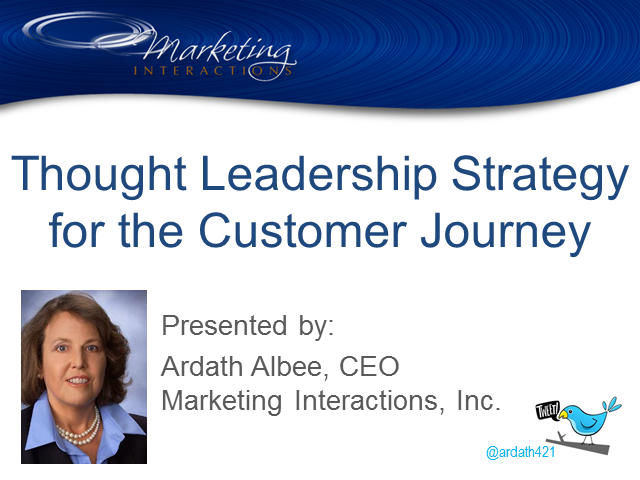 Thought Leadership Strategy for the Customer Journey