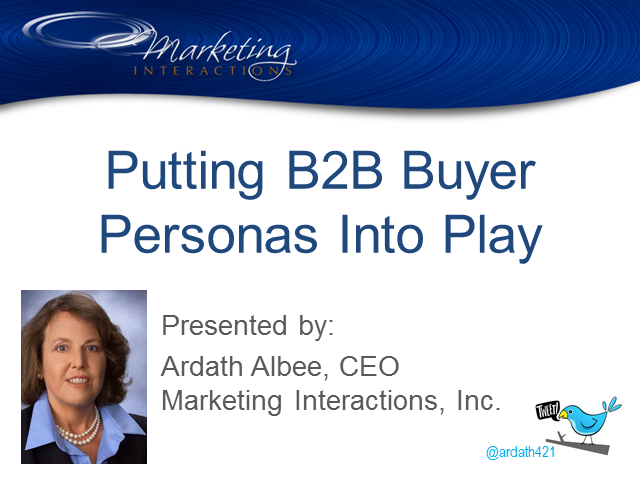 Putting B2B Buyer Personas Into Play