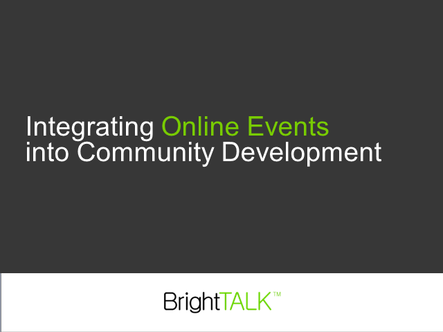 Integrating Online Events into Your Community Development