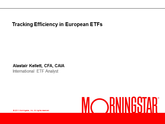 Tracking Efficiency in European ETFs