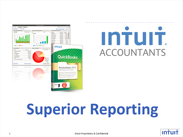 Superior Reporting with QuickBooks Accountant