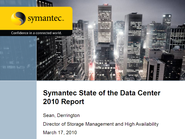 Symantec's State of the Data Center Report