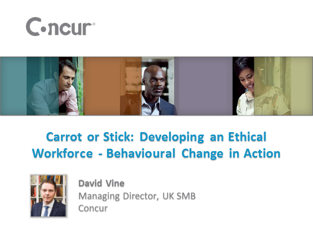 Carrot or stick: developing an ethical workforce - behaviour change in action