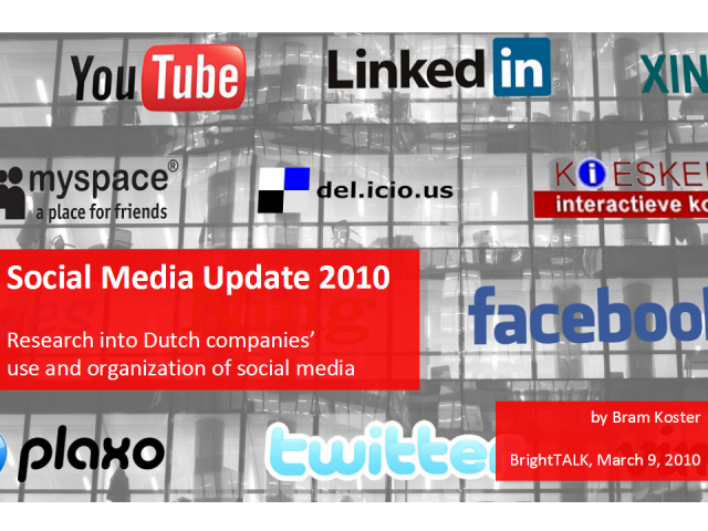 Social Media in the Netherlands: Companies in Experimental Phase