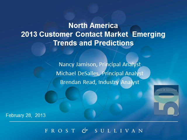 2013 Emerging Contact Center Trends and Predictions