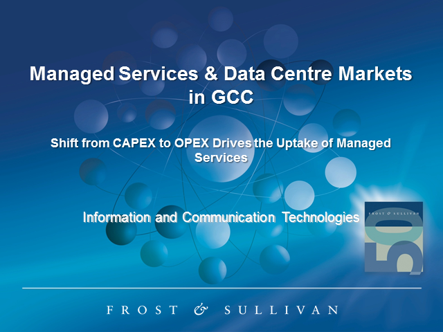 Managed Services & Data Centre Market in the GCC Shift from CAPEX to OPEX