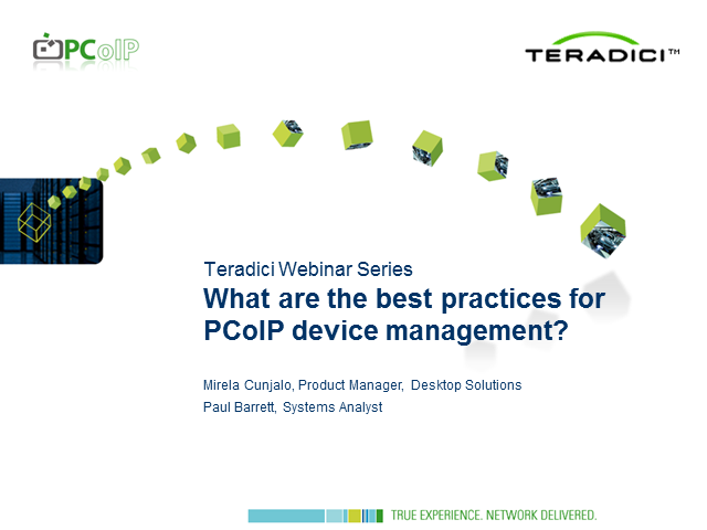 What are the best practices for PCoIP device management?
