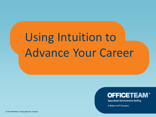 Using Intuition to Advance Your Career