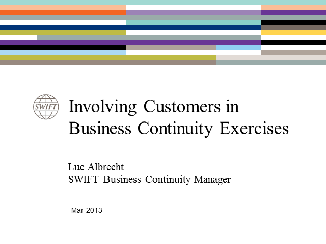 Involving Customers in Business Continuity Exercises