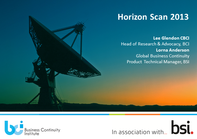 Horizon Scanning:  Top Threats in 2013 and Key Trends