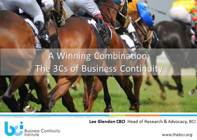 A Winning Combination:  The 3Cs of Business Continuity