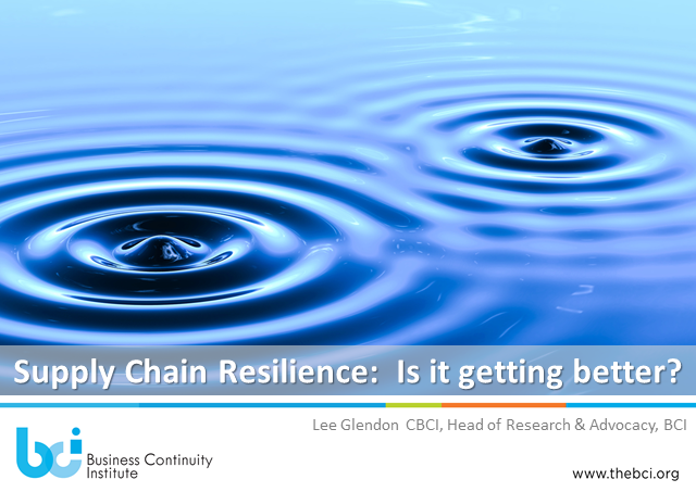 Supply Chain Resilience:  is it getting better?