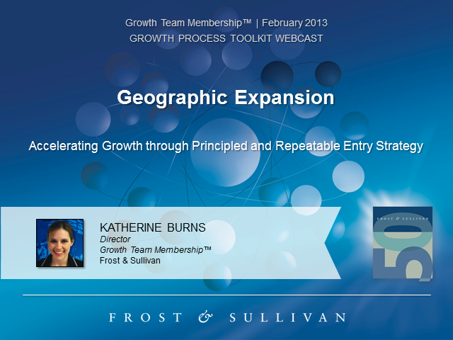Geographic Expansion: Principled and Repeatable Entry Strategy