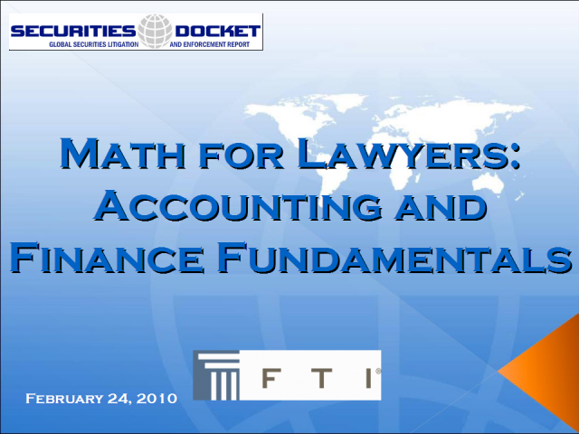 Math For Lawyers: Accounting and Finance Fundamentals
