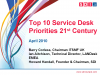 Top 10 Service Desk Priorities for the 21st Century