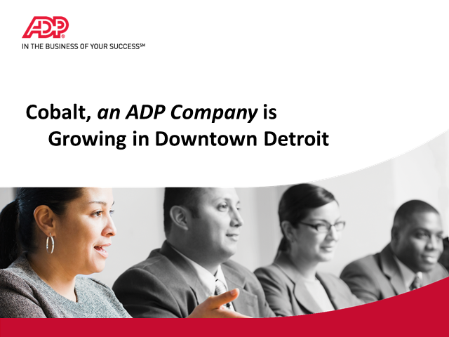 Cobalt, an ADP Company is HIRING in Detroit!