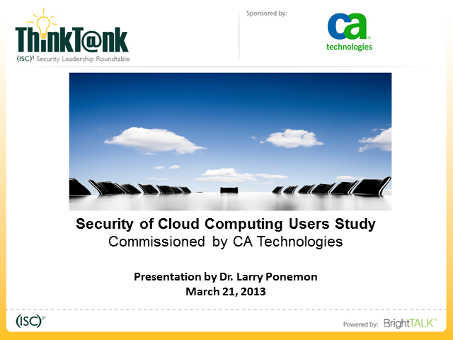 The State of Cloud Security 2013