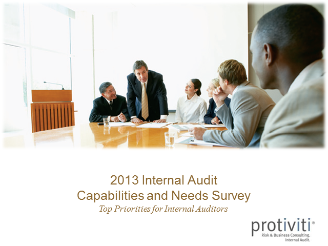 2013 Internal Audit Capabilities and Needs Survey Webcast