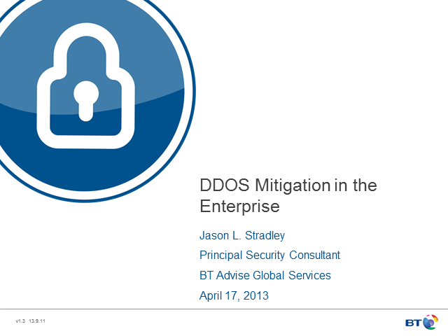 DDoS Mitigation in the Enterprise
