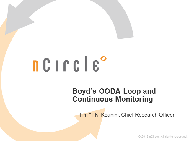 Boyd's OODA Loop and Continuous Monitoring