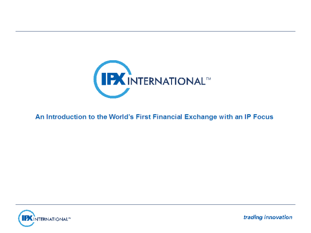 An Intro to the World's First Financial Exchange with an IP Focus