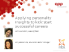 Applying personality insights to kick-start successful careers