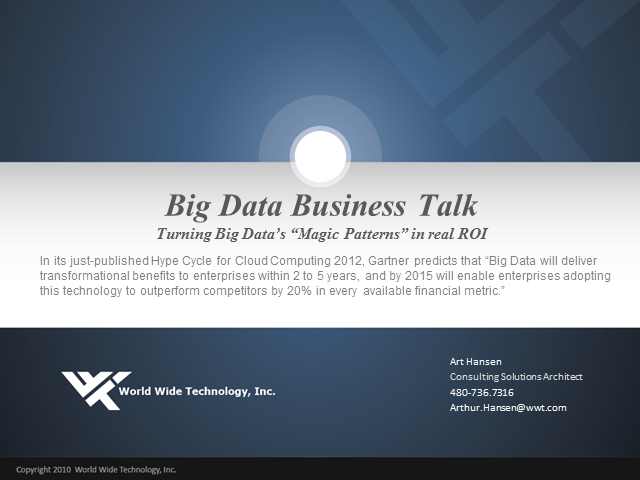 Big Data Business Talk