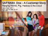 SAP HANA One - Customer Story. Merging HANA, Pig, Hadoop & the Cloud