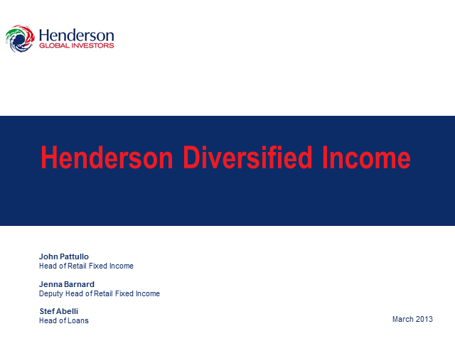 Henderson Diversified Income Limited: Live Webcast