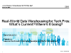 DB2 Tech Talk: Real-World Data Warehousing for Tech Pros: Current and Coming