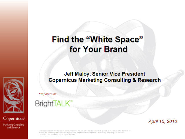Find the White Space for Your Brand