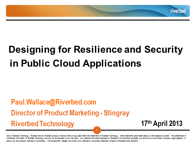 Designing for Resilience and Security in Public Cloud Applications