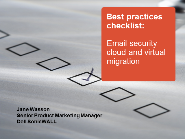 Best practices: Email security cloud and virtual migration checklist