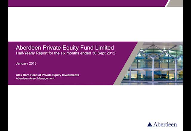 Aberdeen Private Equity half yearly report