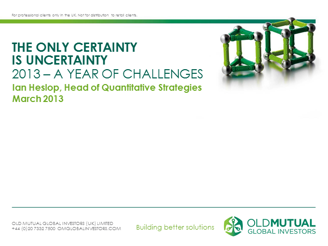 Old Mutual Global Absolute Return Equity Fund Update