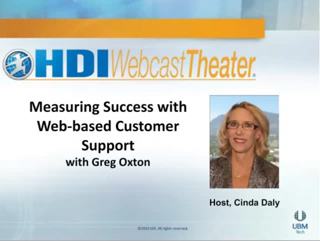 Measures for Assessing Customer Success with Web-Based Support