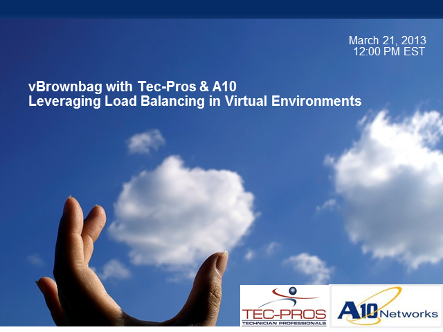 vLunch n' Learn with Tec-Pros & A10!