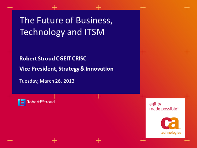 The Future of Business, Technology and ITSM
