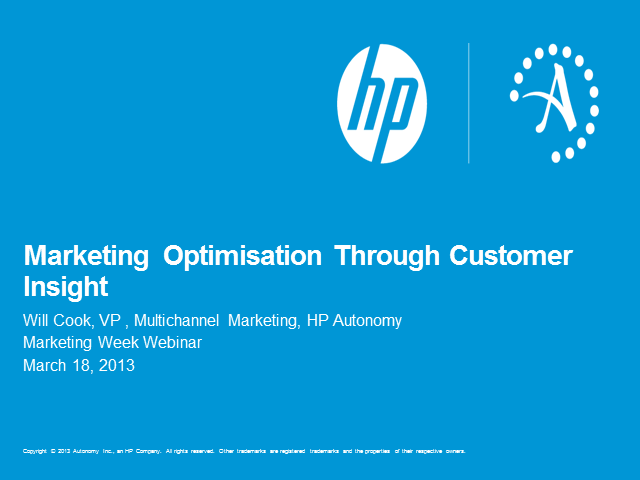 Optimisation: Good for your customer, good for your business